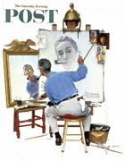 Norman Rockwell Famous Artwork Cleaning Cloth Andquottriple Self Portraitandquot