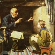 Norman Rockwell Famous Artwork Cleaning Cloth Andquotyouth And Old Ageandquot