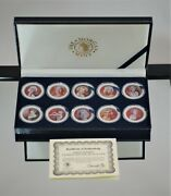 2004 Marilyn Monroe Colorized Half Dollar Collection W Box And Coa A-1617