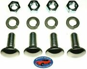 Ford 3/8-16x1 Stainless Capped Round Head Front Rear Bumper Bolts And Nuts 4pcs D