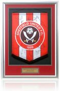 Sheffield United The Blades 2012/13 First Team Squad Hand Signed Pennant Coa