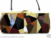 New Auth Lanvin Beautiful Shoulder Evening Bag Hand Made In Italy Very Rare