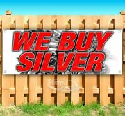 We Buy Silver Advertising Vinyl Banner Flag Sign Many Sizes Collectibles Pawn