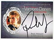 The Vampire Diaries Season 4 Paul Wesley Autograph Auto Pw - Qty Avail