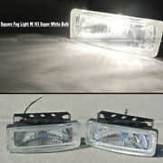 For Sebring 5 X 1.75 Square Clear Driving Fog Light Lamp Kit W/ Switch And Harnes