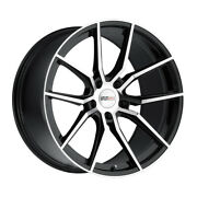Cray Spider 18x9 5x120.65 Offset 50 Gloss Black With Mirror Cut Face Qty Of 4