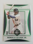 2018 Panini Limited Green Ronald Acuna Jr. Rc 1/5 1/1 First One