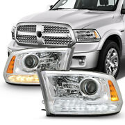[led Drl/turn Signal Switchback] For 09-18 Dodge Ram Truck Projector Headlight