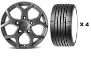 18 Mgm Cobra + Tyres Alloy Wheels Fit Ford Transit Crewcab Luton Chassis Cab