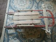 Vintage Sled Child Size Rail Runner Read Send Good Shape