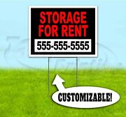 Storage For Rent Custom Phone 18x24 Yard Sign With Stake Corrugated Bandit