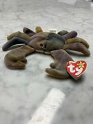 Rare Double Tush Tag Ty Beanie Baby Claude The Crab 1996 Retired