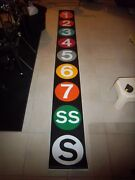 Complete Ny Nyc Subway Roll Sign R12 End Route Nycta Vintage Collectible Display