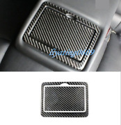 Real Carbon Fiber Rear Water Cup Holder Cover Trim For Infiniti Q50 Q50l 14-19