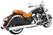 Freedom Exhaust 4 In. Liberty Slip-on Chrome/black End Caps Indian Chief In00029