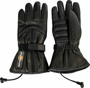 California Heat 12v Heated Motorcycle Street Riding Cold Weather Leather Gloves
