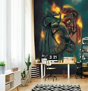 3d Clash Of Titan O024 Wallpaper Wall Mural Removable Self-adhesive Vincent Amy