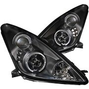 Anzo Projector Headlights Whalo Black Fits 2000-2005 Toyota Celica 121387