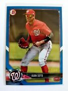 2018 Topps Bowman Prospects Blue Juan Soto Rc 22/150 1/1 Jersey Number