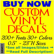 Custom Vinyl Decal And Vinyl Lettering Stickers Custom Window Car Wall Decals Sign
