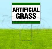 Artificial Grass 18x24 Yard Sign With Stake Corrugated Bandit Business Landscape