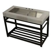 Kingston Brass Kvsp4922a5 Fauceture 49 Stainless Steel Sink With Iron Consol...