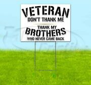 Thank You Veterans 18x24 Yard Sign With Stake Corrugated Bandit Usa Military