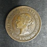 1894 Canadian One Cent Large 1c Victoria Bn Xf Bronze Rg642