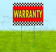 Warranty 18x24 Yard Sign With Stake Corrugated Bandit Usa Business Dealership
