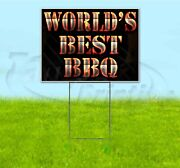 World's Best Bbq 18x24 Yard Sign With Stake Corrugated Bandit Usa Business Grill