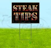 Steak Tips 18x24 Yard Sign With Stake Corrugated Bandit Usa Business Grill