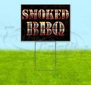 Smoked Bbq 18x24 Yard Sign With Stake Corrugated Bandit Usa Business Grill