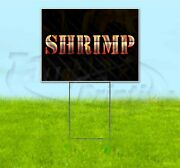 Shrimp 18x24 Yard Sign With Stake Corrugated Bandit Usa Business Grill