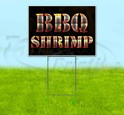 Bbq Shrimp 18x24 Yard Sign With Stake Corrugated Bandit Usa Business Grill