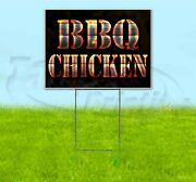 Bbq Chicken 18x24 Yard Sign With Stake Corrugated Bandit Usa Business Grill
