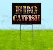 Bbq Catfish 18x24 Yard Sign With Stake Corrugated Bandit Usa Business Grill