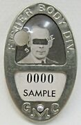 Wwii 1940and039s Gmc Fisher Body Div. Employee Photo Badge Pinback Home Front +