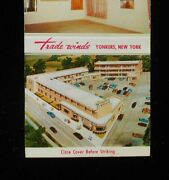 1950s Trade Winds Motor Court Interior Photo Artist Sketch Yonkers Ny Matchbook