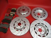 Mercedes Benz S63 S65 Amg Front Rear Brake Pads And Rotors Set 320 Topeuro