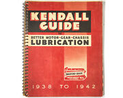 Kendall Motor Oil Guide To Better Lubrication 1938 To 1942 Excellent Condition