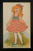 1920s Usa Girl Cut-out Doll Fogelson's Better Bread Fogelson's Bakery Newton Nj