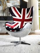 Accent Chair W/swivel - Pattern Fabric And Aluminum Yantian