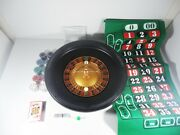 Casino Roulette Wheel 16and039and039 Blackjack Felt Layout Casino Game Set Table 90 Chips