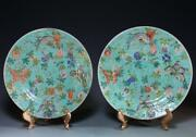 Pair Of Chinese Enameled Porcelain Plates