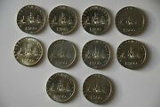 500 Lire Italy Silver Coins 10 Pcs ,columbus , Caravelle , 1958-1967 Italy