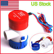 1100gph 12v Electric Marine Submersible Bilge Sump Water Pump Fit Boat Yacht New