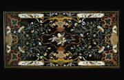 48 X 24 Marble Center Table Top Pietra Dura Handcrafted Inlay Work Home Decor