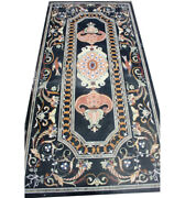 48 X 24 Marble Table Top Inlay Handmade Art Work For Home And Garden