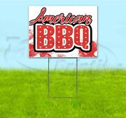American Bbq 18x24 Yard Sign With Stake Corrugated Bandit Usa Business Barbeque