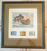 1986 Washington State Duck Stamp Print Keith Warrick Nicely Framed